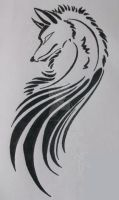 Wolf Wing Tribal tattoo by Maszeattack