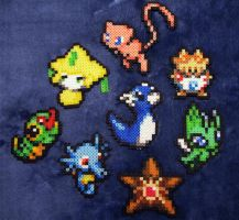 Muliti small pokemon perler beads by BklynSharkExpert