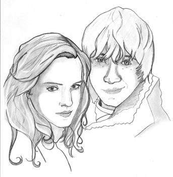 Ron and Hermione by Saber75