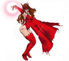 scarlet witch..colors by carol by Selkirk