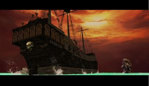 PIRATE SHIP back by scifilicious