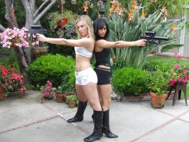 Girls with guns by cagwa