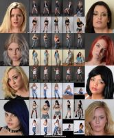 Stock:  Urban Grunge - 8 models with attitude by ArtReferenceSource