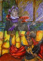 Marker Frollo and Jafar by MAYUKUROCHAN