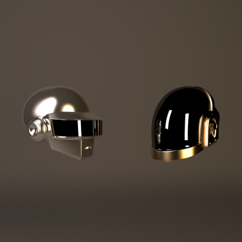 Gold And Grey Daft Punk Helmets by GexANIMATOR