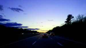 Cars at sunset by IV47E