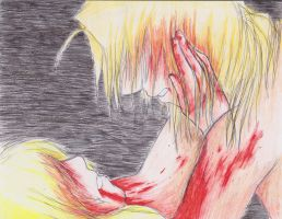 Ed and Winry: Blood by Bazooka-Banzai
