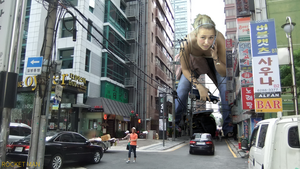 Giantess Hayden Panettiere in Korea by Rocketmangts