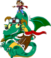 Gift-Ila on a Dragon by JulieKarbon