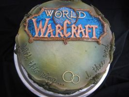 Step Dads Grooms Cake: World of Warcraft Cake!! by Taryndedoo