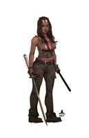 Walking Dead MICHONNE by jasinmartin