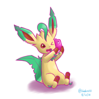 Leafeon Selfie by Bluekiss131