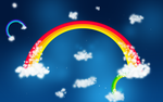 Rainbows rising from clouds by tomge