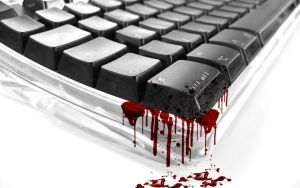 blood Mac  keyboards by Paullus23