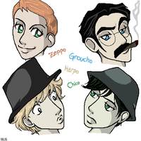 Teen Titans - Marx Bros. by Porcelain-Requiem