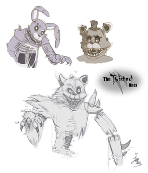 *The Twisted Ones* (FNaF6?) by JulieDraw2046