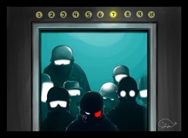 In The Elevator by pleague
