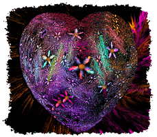 Fractal Flower Heart by mk-kayem