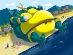 Giant Sumo Mikey's day on the beach by RickyDemont
