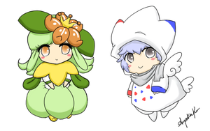 Lilligant and Togekiss by Chereaux