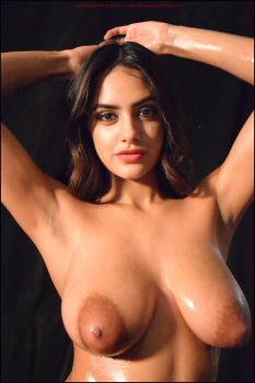 Mila Rose: oiled breasts. by Saledin