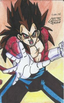 Vegeta Ssj 4 de : Dragon ball GT by GACS-Draw