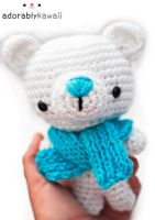 polar bear amigurumi 2 by adorablykawaii