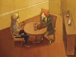 At the cafe by fffiesta