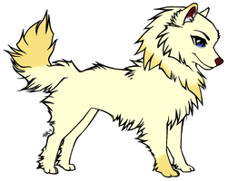Henu lineart : gold paw the husky by SnowberryInc