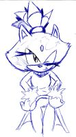 blaze the cat pose by sonicfreack