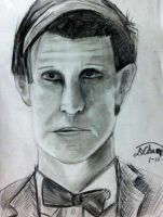The 11th Doctor quick sketch by DMC5X2