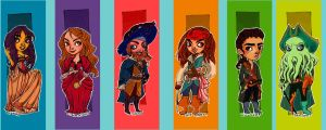 Pirates of the Caribbean Characters by rynarts