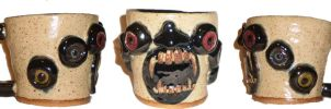 Monstrous Feral Bestial Face Cup by aberrantceramics