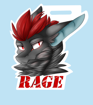 Rage Badge by 13dragonwings