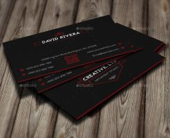 Red Line Creative Business Card by GreyFoxGR