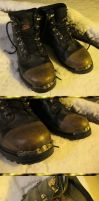 Brass-Fitted Boots Mark II by Windthin