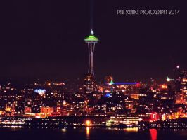 Space Needle With 12th Flag Atop by SilentMobster42