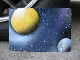 Mini Celestial Spray Painting5 by Christine-Eige