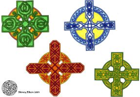 Flash - Celtic Crosses 1 by sidneyeileen