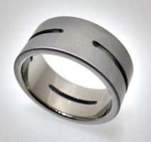 Cut Steel Ring by Spexton