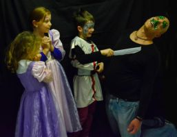 Knight rescues Princesses from Dragon by MayEbony