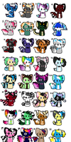 Name Your Price Adoptables ::All Taken:: by Xx-AnickJukebox-xX