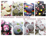 kawaii buttons by linkitty
