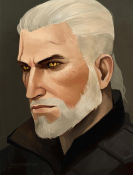 Geralt Of Rivia study by Luccorvus