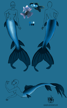 Tail Design - Blue Goldfish by seaspire