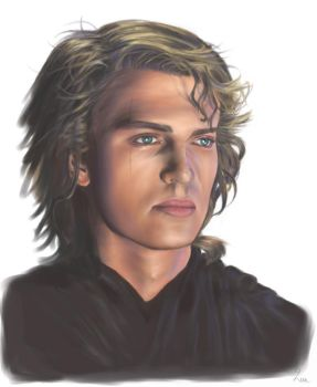 Anakin painting by Leen-galeas
