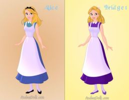 Alice and Bridget by KendraKickz0220