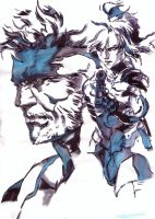 Solid Snake and Raiden Yoji Shinkawa by Thestickibear
