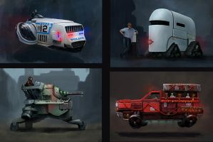 Futuristic vehicles concept research by LMorse