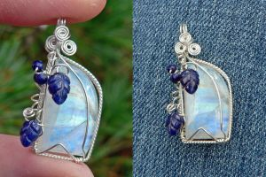 Hoarfrost Moon Pendant by magpie-poet